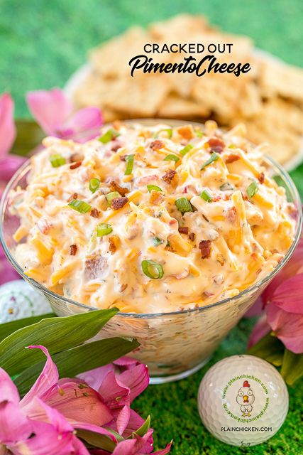 Cracked Out Pimento Cheese – pimento cheese loaded with cheddar, bacon and ranch…