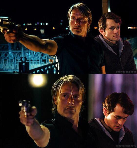 Mads Mikkelsen (in Charlie Countryman) & Hugh Dancy (in Adam)
