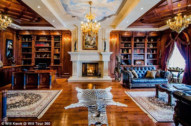 The 24,000 square foot Château de Versailles in Vaughan has six-bedrooms, 12 bathrooms and a zebra in the living room