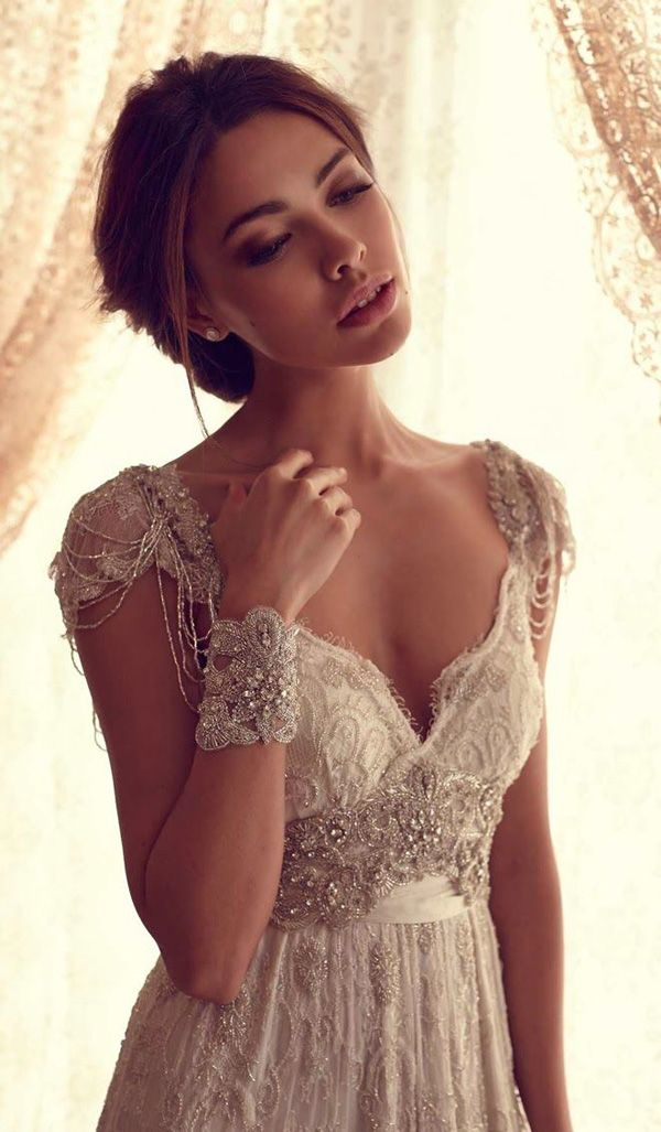 Anna Campbell sequins vintage wedding dresses                                                                                                                                                                                 Más