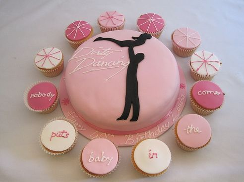 Dirty Dancing Cupcakes and Cake...this would be cute for like an 80s/90s theme party...
