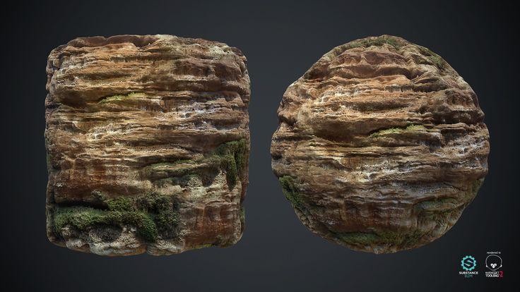 ArtStation - Rock Cliffs Tile Material, Roman Riumshyn