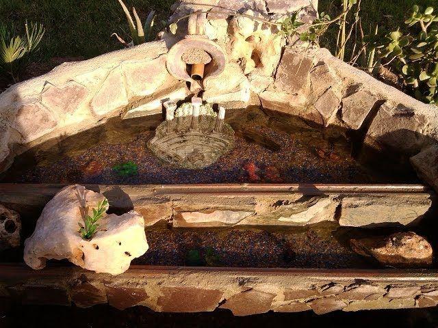 dejo un vídeo del estanque que ice en mi jardín, utilizando un viejo jacuzzi y un bomba filtro de piscina portátil. espero que les ayude