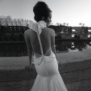 Trendy Gorgeous romantic backless sexy wedding dress by Inbal Dror of course