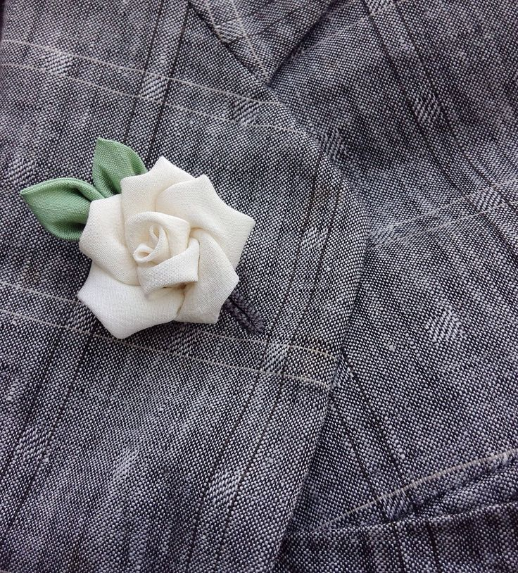 Mens Lapel Pin Flower Lapel Pin Ivory Rose Lapel Kanzashi Brooch Custom Lapel Pins Men Silk Boutonniere Wedding Lapel Flower Groomsman Gift by exquisitelapel on Etsy https://www.etsy.com/listing/244368533/mens-lapel-pin-flower-lapel-pin-ivory