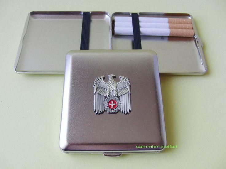 Zigaretten Etui mit Emblem REICHSADLER u. EISERNES KREUZ goldfarben NEU OVP | eBay