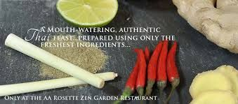 Zen Garden Senspa Carey's Manor Hotel Brockenhurst village very tasty thai food short walk from Daisybank Cottage New Forest