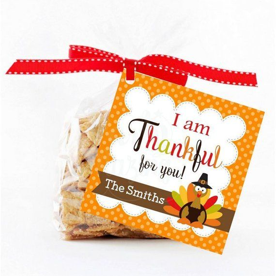 thanksgiving thank you tags party favor PDF and jpg digital format instant download Thanksgiving gift tags printable treat tags and labels