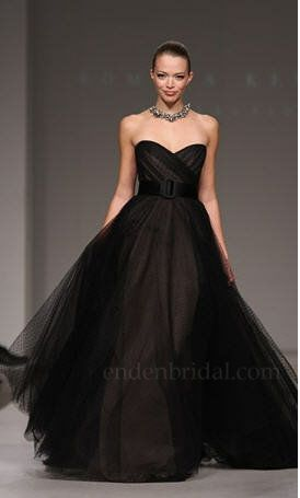 LOVE this dress!!! Can I get away with wearing a black wedding dress? I look SO much better in black!