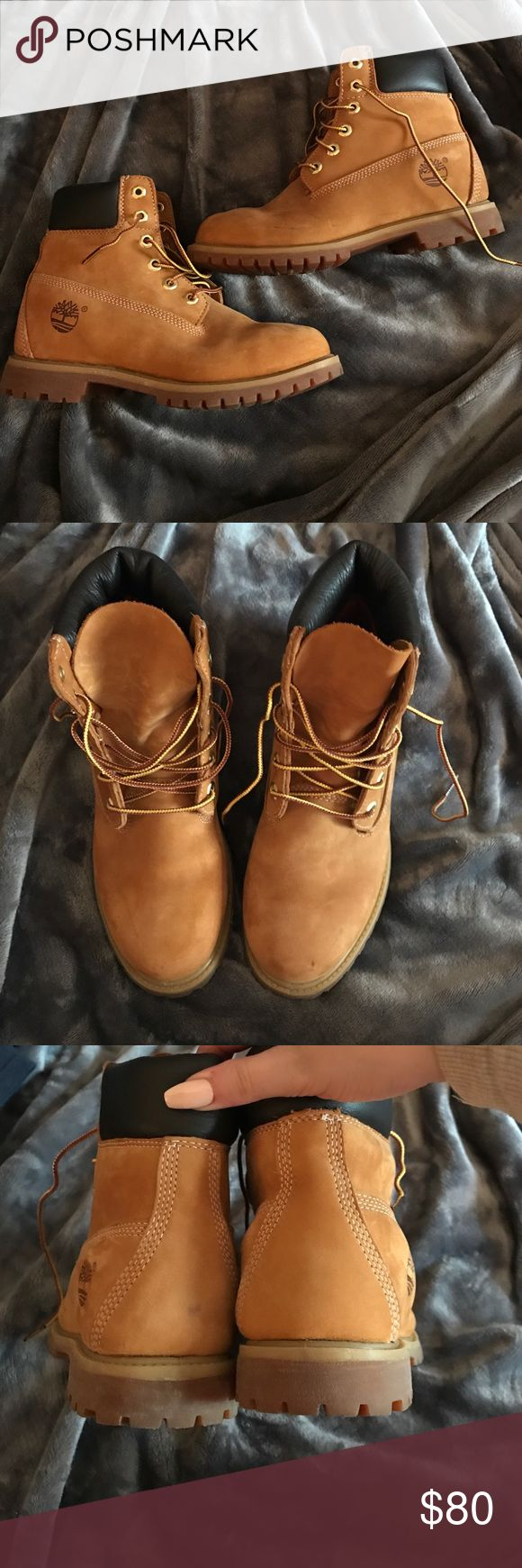 Great condition wheat timberland boots size 8 Awesome condition. Barely ever worn. Timberland Shoes