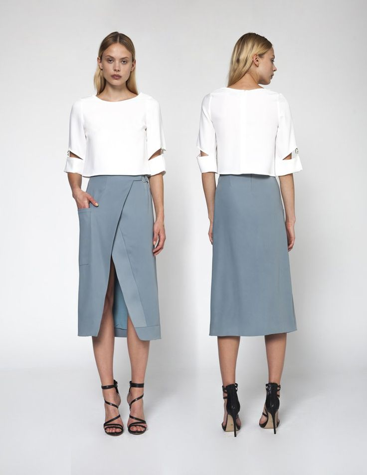 The #architecturalShape of this #skirt makes it a timeless piece you can #easily wear with a chunky sweater in colder seasons or a floaty blouse in the summer.
