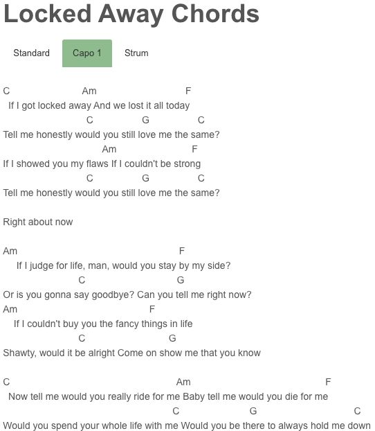 Locked Away Chords Adam Levine, R. City : Adam Levine : Pinterest : A website, Adam levine and ...