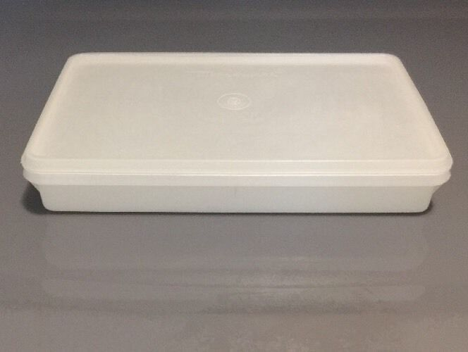 TUPPERWARE Deli Meat and Cheese Keeper White Rectangle Container with Lid  | eBay