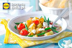Duszone warzywa z fasolką i ziemniakami z dodatkiem fety. Kuchnia Lidla - Lidl Polska. #kuchniagrecka #warzywa