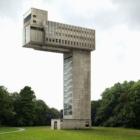 Architectural montage art by Fillip Dujardin