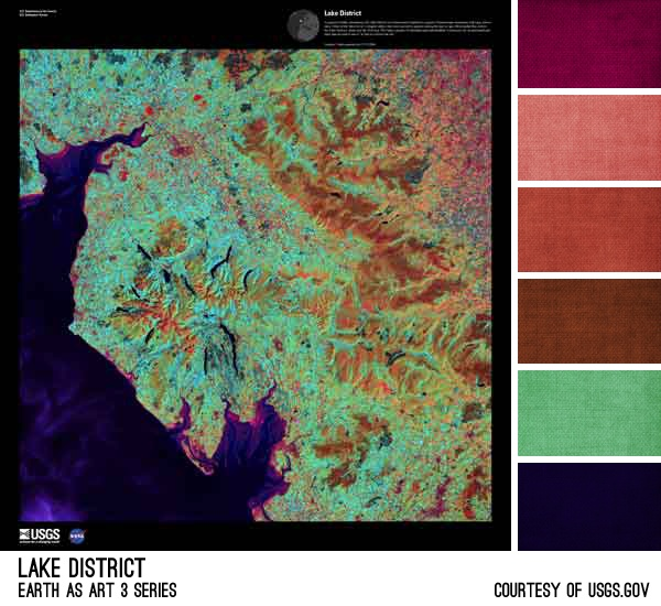 Lake District Palette - inspired by the Earth As Art photos from the USGS, created by Brandi Hussey (www.brandigirlblog.com) for the 3rd Annual Challenge of Color (http://treasures-found.blogspot.com/2012/11/color-full-world-welcome-to-3rd-annual.html)