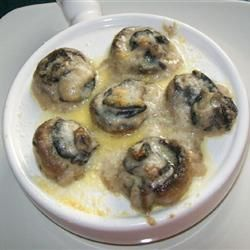 Easy Garlic Escargots Allrecipes.com making this to take to a dinner party tonight using Epicure's Aioli as well as a garlic clove.  Putting it all into the large baker, will take the sauce in a separate container and pour it over the top when I get there and add cheese at that time also.  toasted baguette using Sage & apple stuffing. yummy and easy