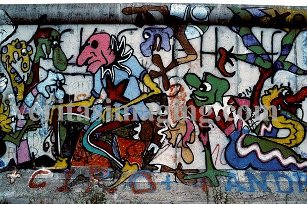Unusual:  Berlin-wall-art-political.  And most of it no longer exists.