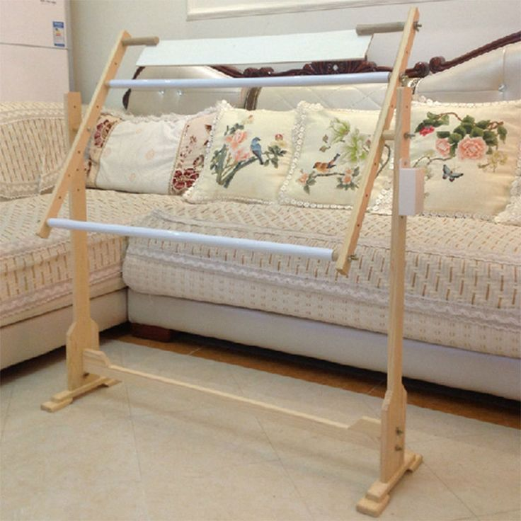 details about cross stitch embroidery tapestry floor wooden frame floor stand 3sizes 14ct 32ct