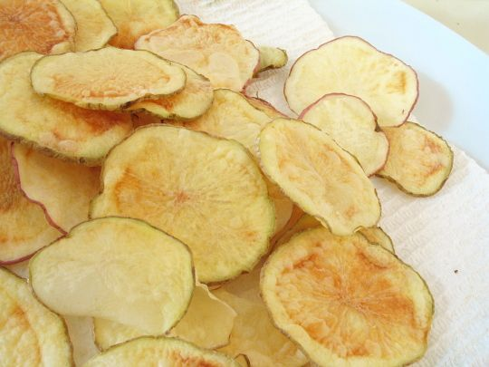 how to make baked potato chips in microwave