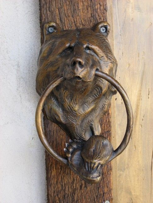 Bear Head Door Knocker By Walt Horton. Totally Need One Of These On My Door!