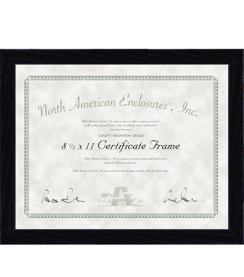 Certificate Frame 8.5X11 - Regal Black
