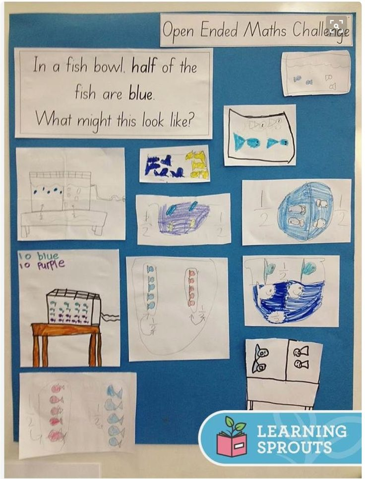 Open-ended word problem display