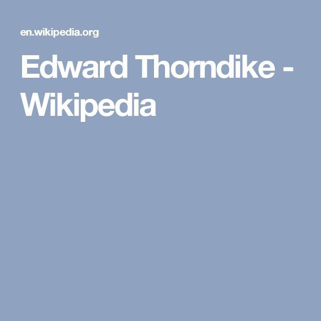 Edward Thorndike - Wikipedia