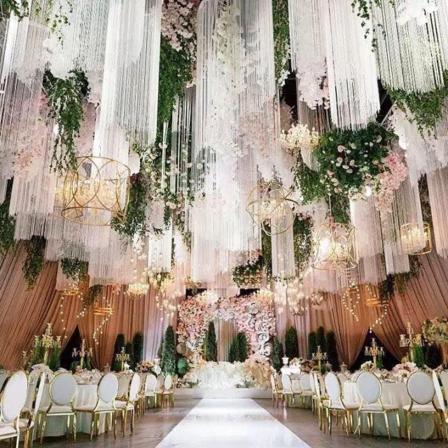 Best 25 wedding ceiling decorations ideas on pinterest for Most beautiful wedding reception decorations