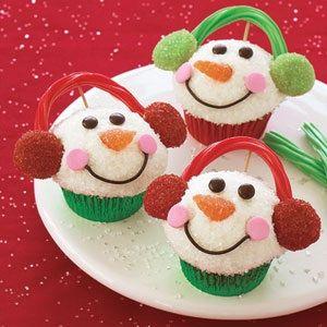 Cupcakes - Hombres de nieve