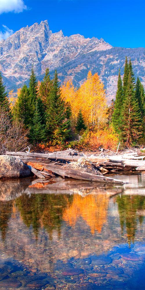 Park of the Rocky Mountains, the Teton Range sits on the Wyoming Idaho border #rockymountains