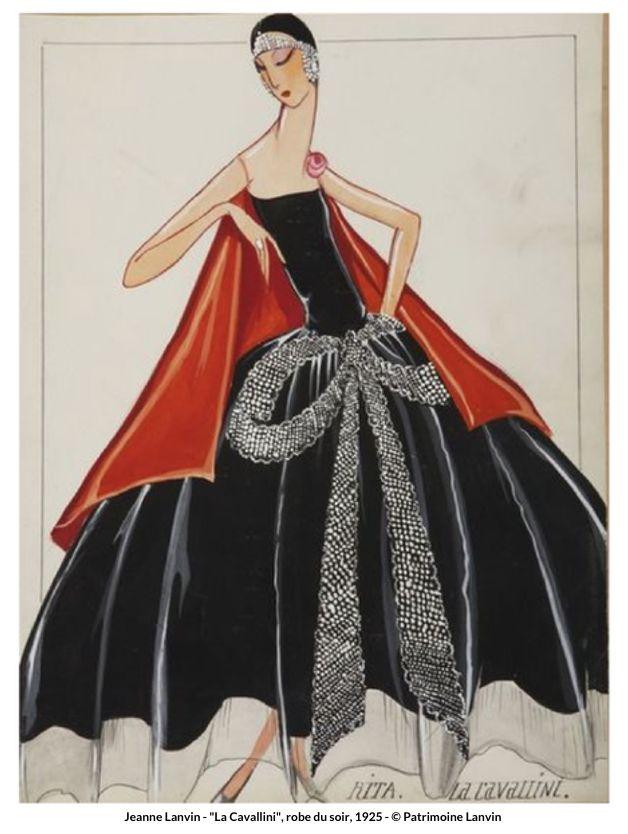 "Jeanne Lanvin - Exposition - Palais Galliera, ""La Cavallini"" robe du soir, 1925"