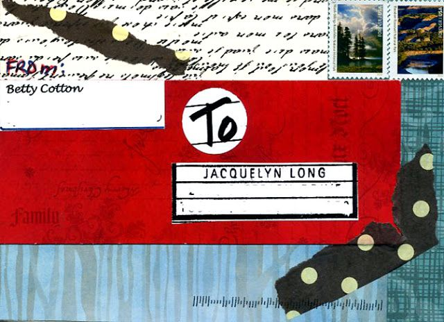 Collage Postcard - Address side  by Betty