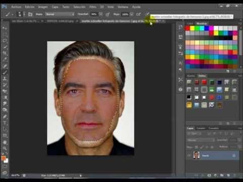 como cambiar caras ,photoshop cs6 - YouTube