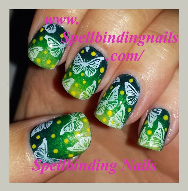 Spellbinding Nails: MoYou London + ' let's fly like a butterfly! '