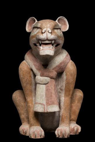 Escultura de Jaguar. Protoclasico Monte alban (100 a.c. - 200 d.c.) Museo Nacional de Antropología
