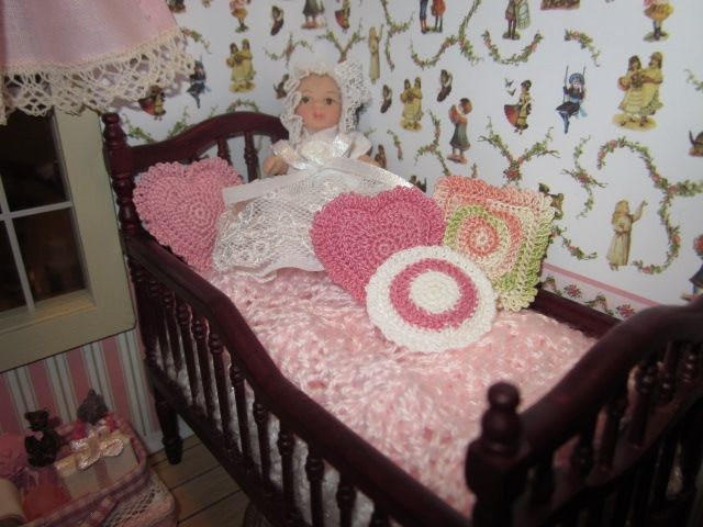 2017 Baby Mabel Rests In Her Crib My Mom Crocheted The White Afghan Sewn Around Mattress And Pink That Rest On Top