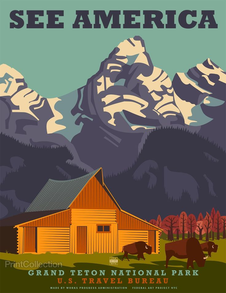 See America, Grand Teton National Park http://www.printcollection.com/collections/exclusive-see-america/products/see-america-grand-teton-national-park#.VJstH4A4