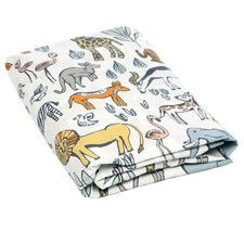 Safari Fitted Crib Sheet