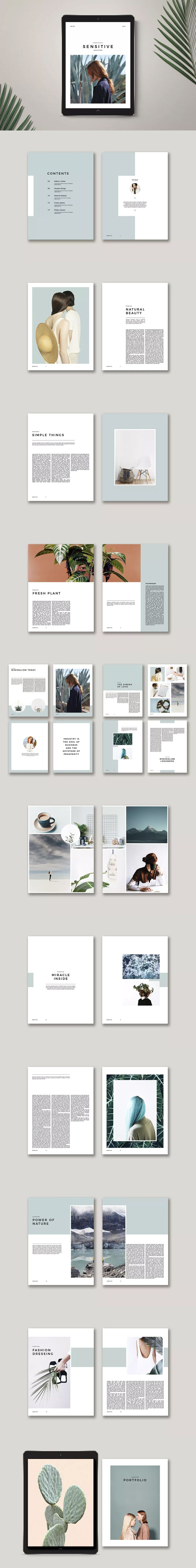 Sensitive E-Magazine Template InDesign INDD