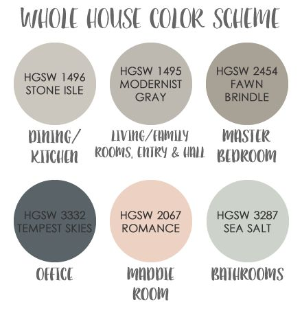 best 2245 paint whole house color palette images on