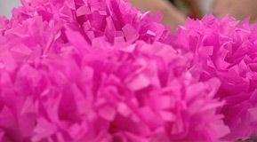 Blommor av silkespapper