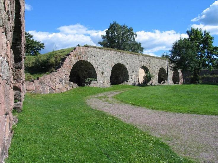 Loviisa fortress courtyard