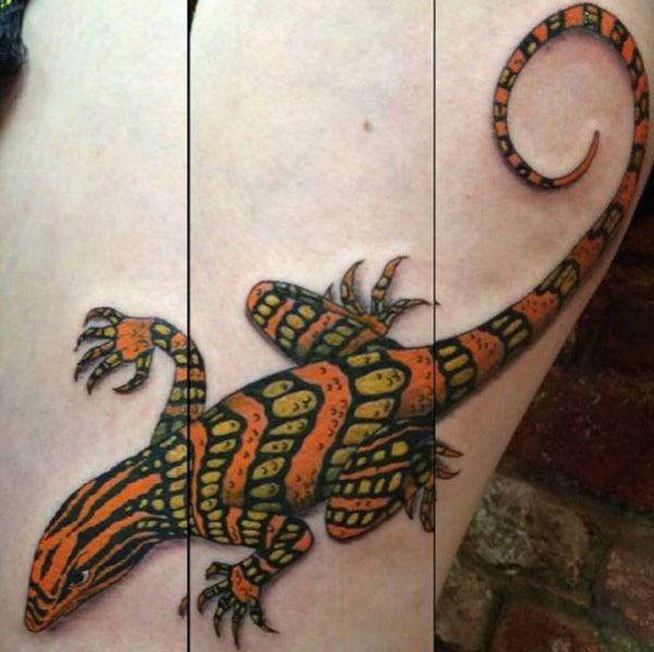 значение татуировки ящерица