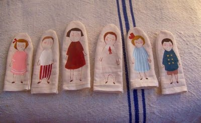 Finger puppets in the making by Kelsey-Garrity