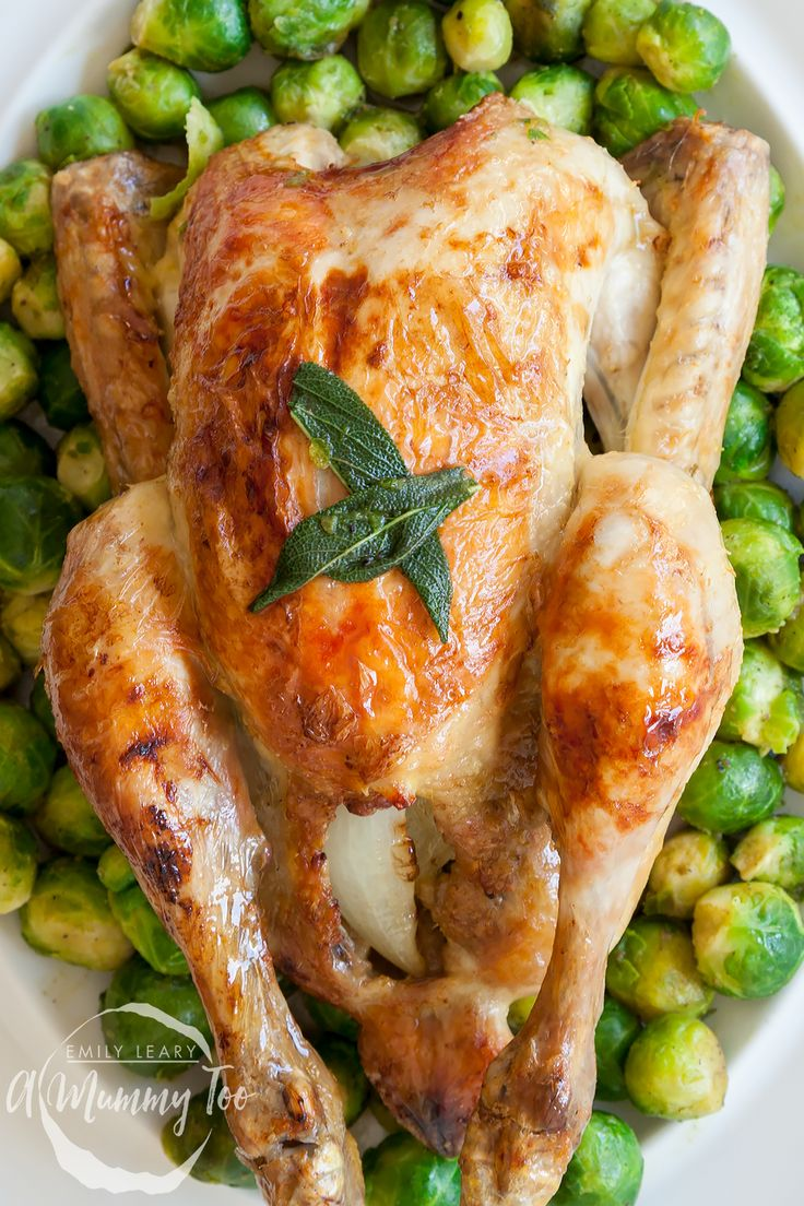 How to make wonderfully buttery sage and onion roast chicken. Perfect for a Sunday roast and really easy to make.