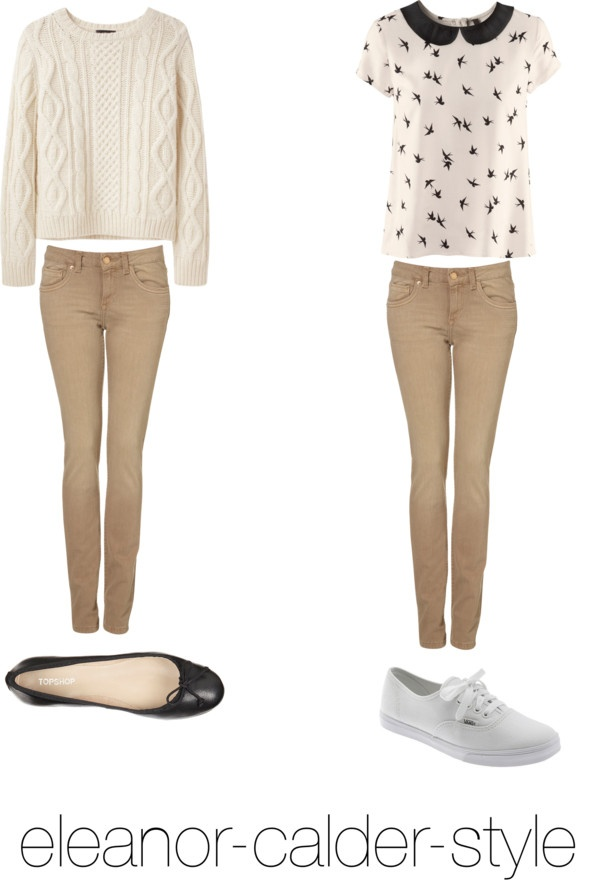 """""""Requested: Outfit with Tan Jeans"""" by eleanor-calder-style ❤ liked on Polyvore"""