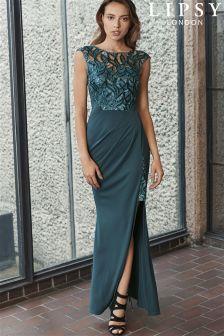 Lipsy Petite Petal Sequin Detail Maxi Dress