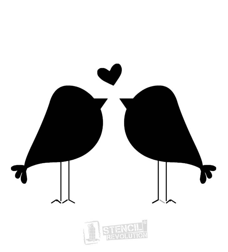 Love Birds Stencils on Stencil Revolution