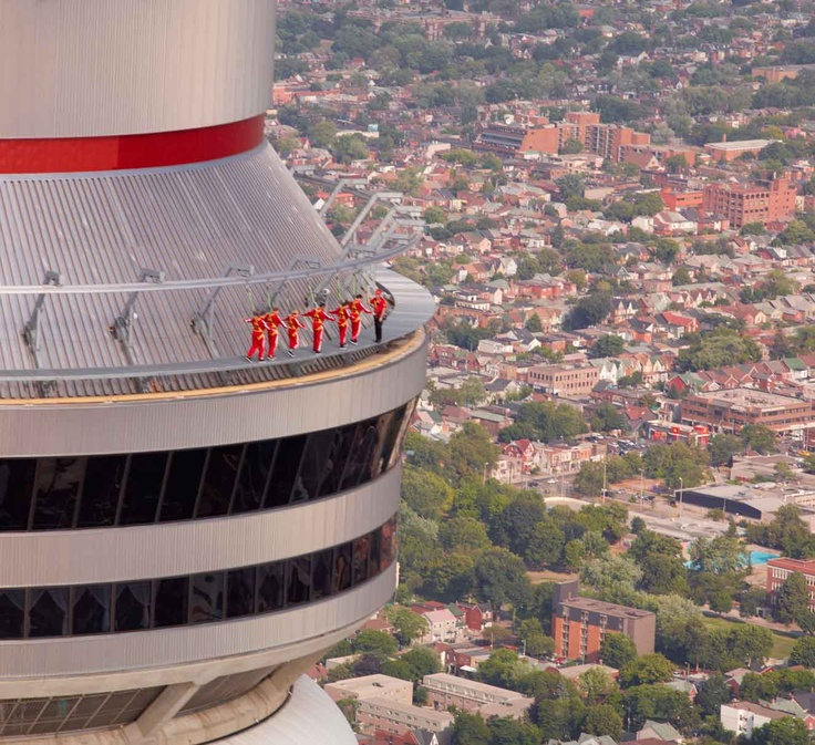 We dare you to take the Edge Walk at the CN Tower...